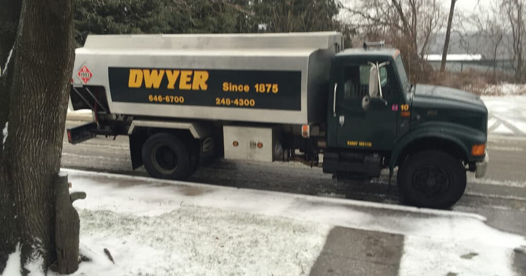 Dwyer Oil Truck Making Delivery
